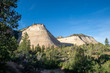 Early morning view of Checkerboard Mesa in Zion National Park in Utah