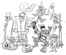 Halloween Holiday Cartoon Spoo...