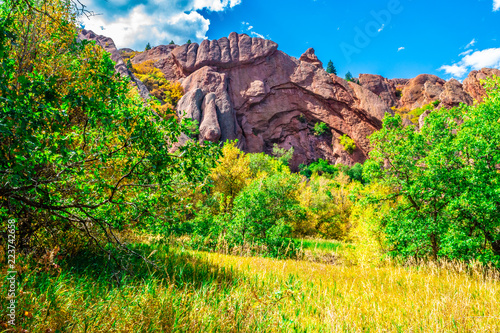 Keuken foto achterwand Meloen Beautiful Fall Red Rock Hike in Colorado