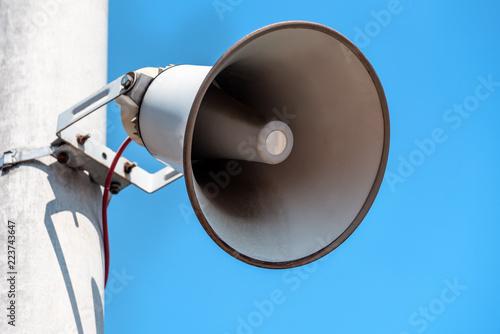 Photo Outdoor public address loudspeakers