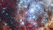 Tarantula Nebula Star Field Also Know 30 Doradus Mergin Cluster Flare Light. Contains Public Domain Image By NASA