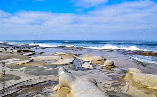 Sun, Surf, and Sculptured Cliffs Canvas-taulu