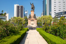 Monument To Christopher Columbus At Paseo De La Reforma In Mexico City
