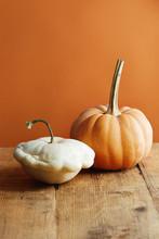 White And Orange Pumpkin On Ru...