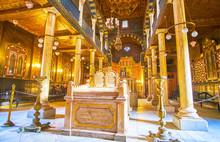 Interior Of Ben Ezra Synagogue...
