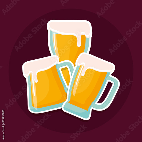 beer jars beverage icon