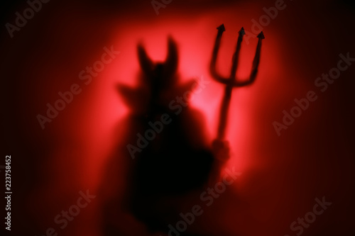 Photo Creepy Devil silhouette