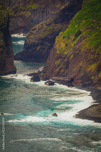 Tuinposter Kust Incredible view of the sea coast. Madeira. Portugal
