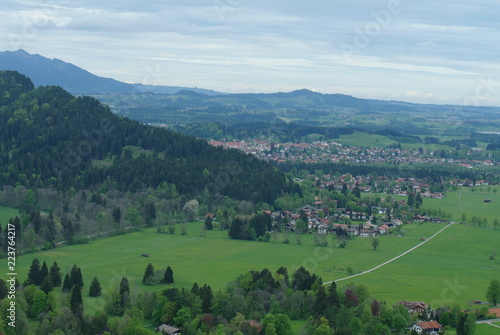 Germany. Mountains. field. village