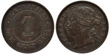 British Mauritius Coin 1 One C...