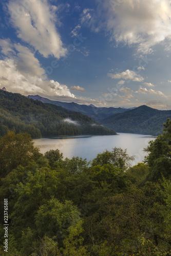 Lake Goygol in Azerbaijan in September