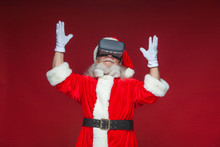 Christmas. Santa Claus In Blac...