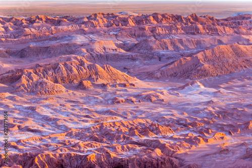 En algún lugar del desierto de Atacama y San Pedro de Atacama en el norte de Chi Fototapet