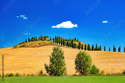 Deurstickers Toscane Paysages de Toscane, Italie