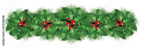 Christmas decoration border Canvas Print