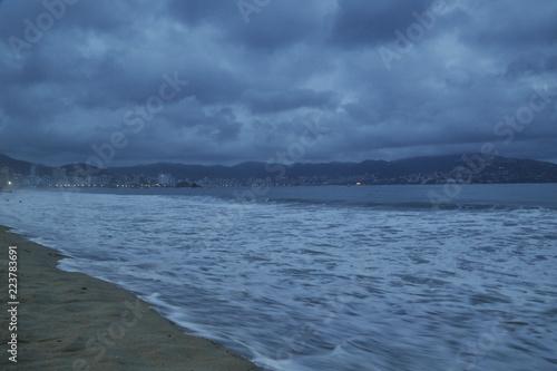 Fotografija  incredible view, night beach in acapulco, panoramic view