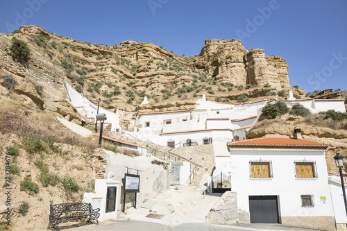 Fotografia Carcavas de Marchal natural monument with typical white houses, province of Gran