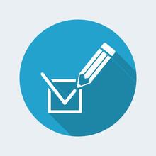 Election Voting Mark Icon