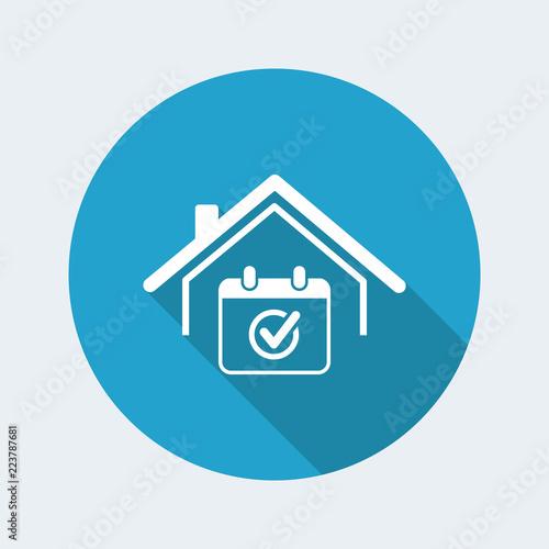 Fényképezés  Checking appointment -  Vector web icon