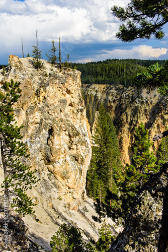 Spoed Foto op Canvas Natuur Yellowstone Canyon