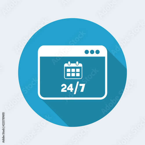 Fényképezés  Full time computer services - Vector flat icon
