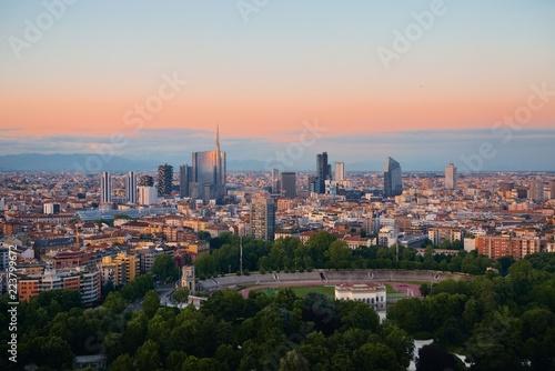 Fotobehang Milan Milan city skyline