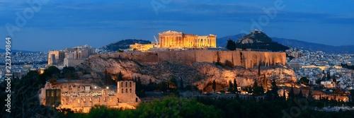 Printed kitchen splashbacks Athens Athens skyline night