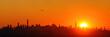 Leinwanddruck Bild - New York City sunrise silhouette