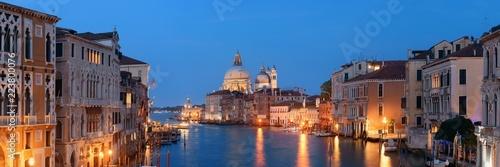 Fotografie, Obraz  Venice Grand Canal viewed at night