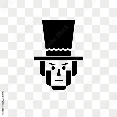 Fotografia  Lincoln vector icon isolated on transparent background, Lincoln logo design