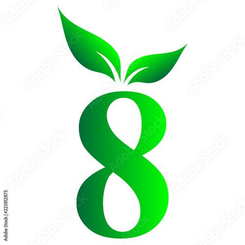 Fotografie, Obraz  Arabic number, 8