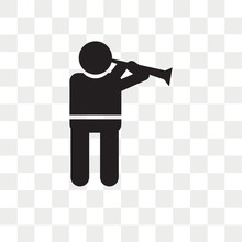 Man Playing A Flute Vector Icon Isolated On Transparent Background, Man Playing A Flute Logo Design