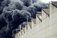 Black Plumes Of Smoke From An ...