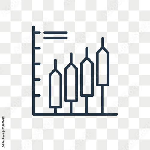 Fotografía  Bar chart vector icon isolated on transparent background, Bar chart logo design