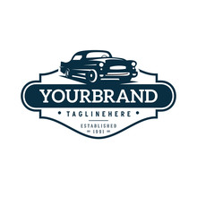 Illustration Classic Car Logo ...