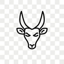 Antelope Vector Icon Isolated ...