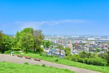 丘から眺める住宅街