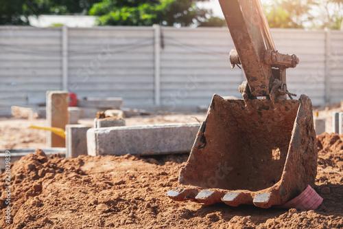 Valokuva  Excavator Backhoe
