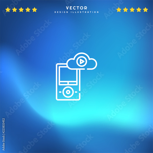 Premium Symbol of Music Player Related Vector Line Icon Isolated on