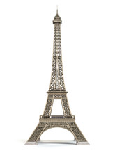 Eiffel Tower Metallic Isolated...
