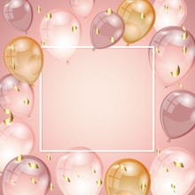 Background With Balloons And C...