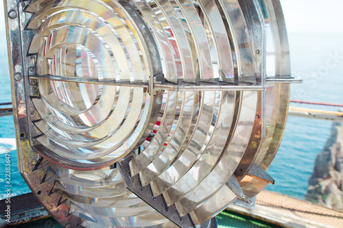 Valokuva  Fresnel lens. Sea lighthouse lens