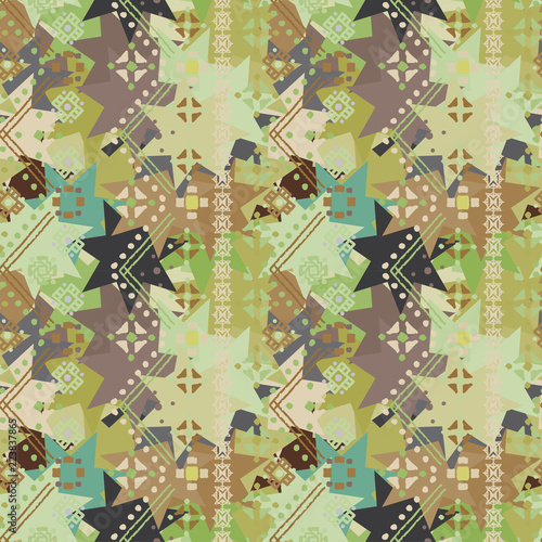 Ethnic seamless pattern Canvas Print