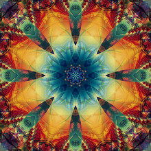 Abstract Kaleidoscope Multicol...