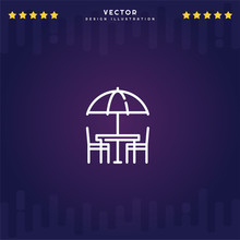Outline Terrace Icon Isolated ...