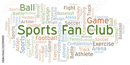 Fotografija  Sports Fan Club word cloud.