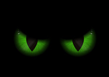 Green Evil Eyes Background