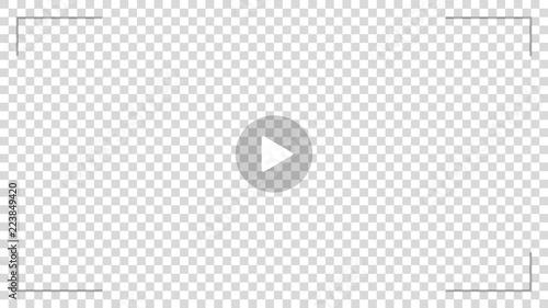 Fotografía  Play video sign vector on transparent background.