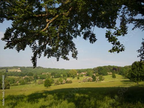 Keuken foto achterwand Zwart cotswold landscape england uk