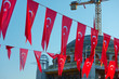 Turkish flags and construction of new mosque